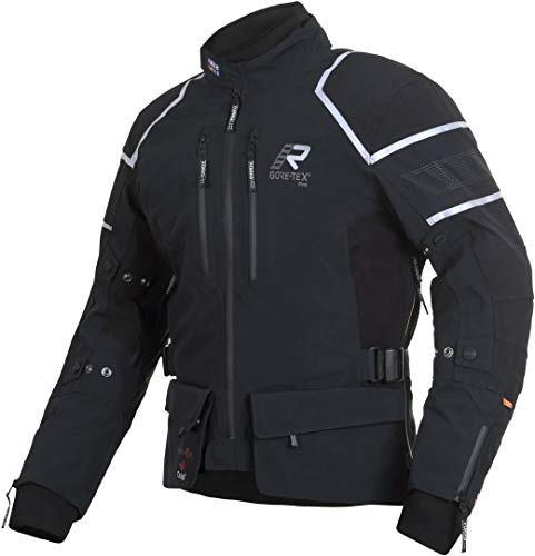 Rukka Kallavesi Goretex Negro Plata Textil Chaqueta De Motocicleta Tamano EU54
