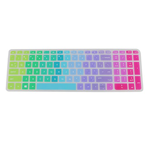 Sharplace Waterproof Soft Silicone Keyboard Cover Skin for HP Pavilion 15'' Laptop - #11