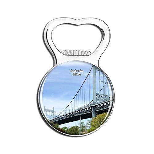 Weekino USA Amérique Astoria Park Bridge Aimant De Réfrigérateur Bière Ouvre-Bouteille Ville Voyage Souvenir Autocollant de réfrigérateur Fort