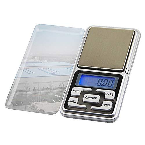 Ydfq Báscula de pesaje Escala Mini Digital 100/200/300 / 500g 0.01/0.1g Retroiluminación de Alta precisión Bolsillo eléctrico para joyería Peso de gramo para Cocina (Color : 300g 0.01g)