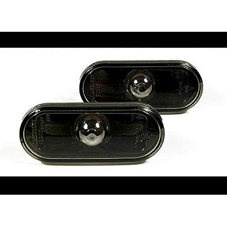 Seitenblinker Klar Schwarz Oval Links Rechts Set E Prüfzeichen Eintragungsfrei Auto