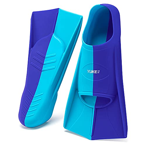 Roeam Short Fins Aletas, Aletas de Buceo, Unisex Adulto, Azul, 33-47