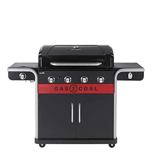 Char-Broil Gas2Coal 440 Hybrid Grill Gas Barbecue, Black