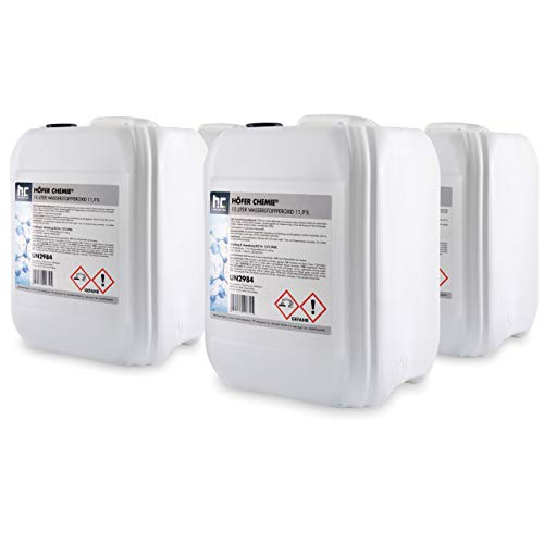 Höfer Chemie 4 x 10 L Wasserstoffperoxid 11,9% H2O2 - technische Qualität - im 10 L Kanister