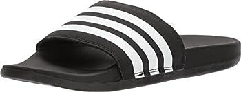 adidas Women s Adilette Comfort Slide Sandal Black/White/Black 8