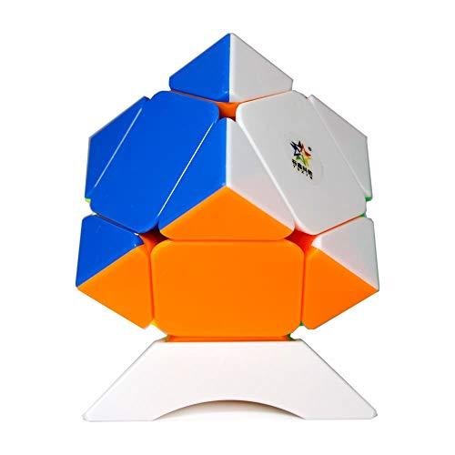 OJIN YuXin Zhisheng Black Kylin Series Versión sin Etiqueta Skewb Velocidad Cubo Cubo mágico Suavemente rápido Puzzle de Rompecabezas Cerebro de Rompecabezas con un trípode(Skewb)