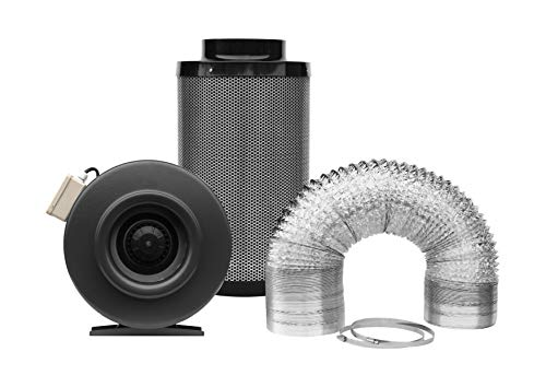 SunStream 4 Inch 190 CFM Plastic Inline Duct Fan For Vents Grow Tents Basements