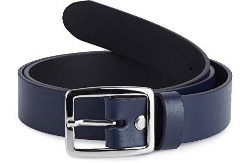 Merry Style Damen Gürtel Ledergürtel D41(Navyblau, 95 cm (Gesamtlänge 114 cm))