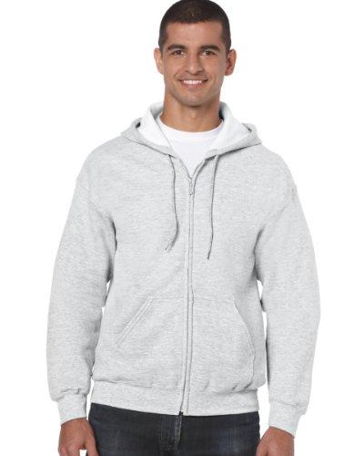 Gildan Gildan 18600 Heavy Blend Erwachsene Kapuzenpullover Full Zip Hoodie Sweatshirt Ash M