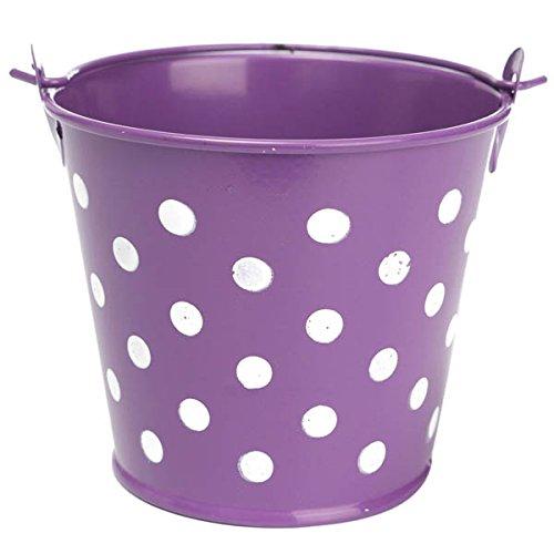 Bluelover Mini Pois Fer Feuille Fleur Pot Fleur en Pot Plante Pot Fleurs Jardin Décoration-Violet