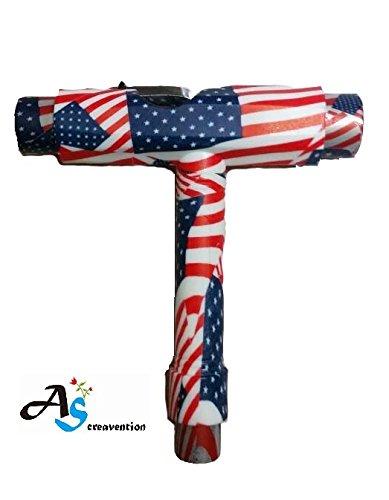 A&S Creavention Skateboard-T-Tool All-in-One-Schraubendreher-Stecknuss, multifunktionales Skateboard-Werkzeug (USA)