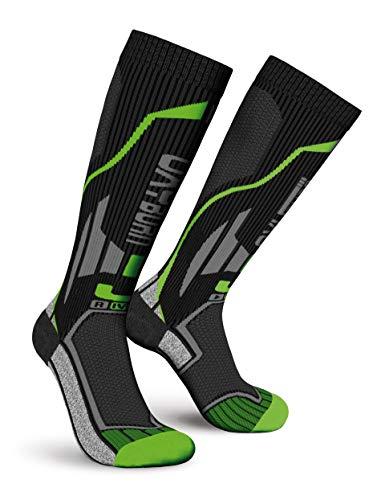 Oxyburn Run Smart Kneehigh Energr M Chaussettes Homme, Noir/Vert, Size 39/41