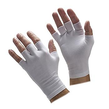 Half Finger White Gloves