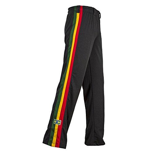 JL Sport Autentico Pantaloni Brasileiana Capoeira Arti Marziali degli Uomini (Giamaicano Reggae) - XL