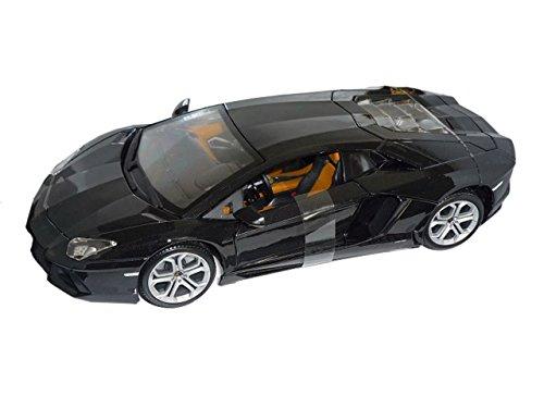 Bburago Lamborgihini Aventador 2011 Lp700-4 Lp 700 Schwarz Coupe 1/18 Modell Auto mit individiuellem Wunschkennzeichen