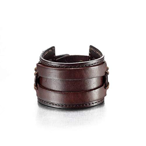 Thumby Unisex Polsband Armbanden Eenvoudige Armband Mannen Persoonlijkheid Leer Rock Wild Wild Mannen Eenvoudige Armband Koffie