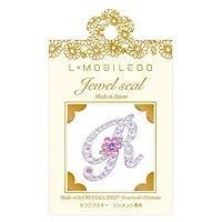 L-MOBILEDO ジュエルシール*フラワーイニシャル/クリスタル/R