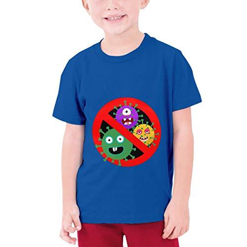 Stop Cor-Onavir-Us Youth Boys Teens Custom T-Shirt, Fashion Shirt for Boys and Girls Blue