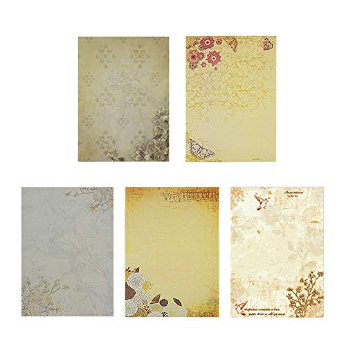 50 Pezzi Carta da Lettere Vintage, Design Retrò,...