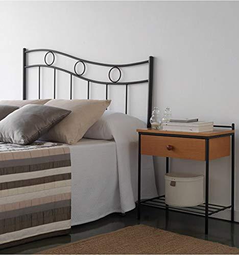 Cabecero de forja Arandela - Crema 22, Cabecero para colchón de 135 cm