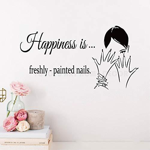 Schönheit Nagelstudio Wandaufkleber Bilden Polnischen Genagelt Wandtattoo Kunst Vinyl Painted Nail Quotes Wandkunst Poster Für Fenster 42 * 80 Cm