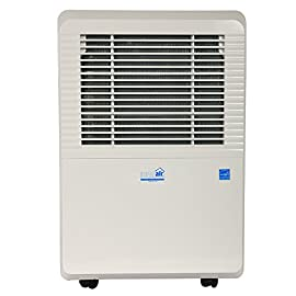 Ideal-Air Dehumidifier | 50 Pint | Portable, LED Display w/ Dehumidistat and Timer Included - Perfect for home, office… 6 Can be plumbed for permanent drainage Temp Range: 32 Degree - 90 Degree F Quick maintenance with easy carbon filter access