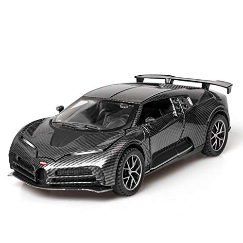 NMBE Car Model Collectible 1/32 DieCasts Electronic Car Modles Cool Black Alloy Auto Mobile Vehicle Sports Super Car for Bugatti Centodieci Aluminum Alloy Car Model
