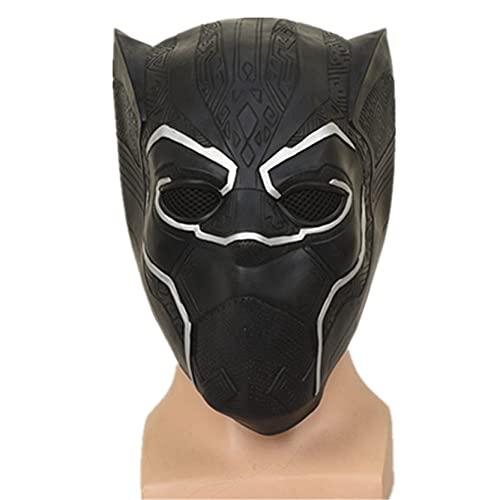 Xyh723 Pantera Negra Casco Cosplay Niños Adulto Superhéroe Juego De rol Cubrir La Cabeza Niño Halloween Carnaval Máscara Completa Regalo De Cumpleaños,Black-One Size