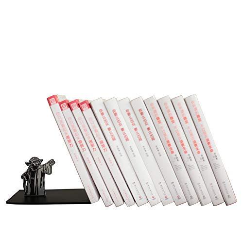 Buchstützen, Metall Premium Heavy Buchstützen Desktop Book Stand Student Buchstütze Office Book von Book Holder Dekoration L-förmige Buchstütze Stand,Schwarz