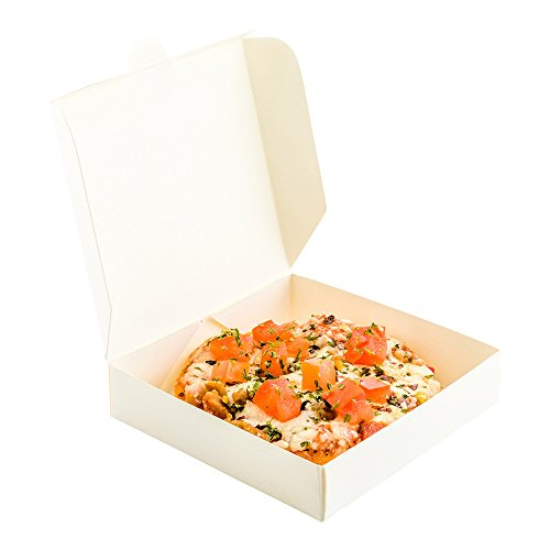3.5 Inch Mini Pizza Boxes, Disposable Small Pizza Boxes - Durable, Locks In Miniature Pizzas, Cookies, Or Party Favors, White Paper Tiny Pizza Boxes, For Take Out, Celebrations, Or Catering