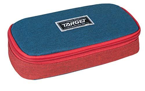 Target Compact College Pencil Case Unisex-Adult, Rouge/Bleu, Taille Unique