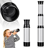 Pirate Monocular Telescope Collapsible Handheld Telescope Toy 7 x 2 Inches Portable Pocket Pirate Spyglass Mini DIY Monocular Telescope Toy for Kids (Gray)