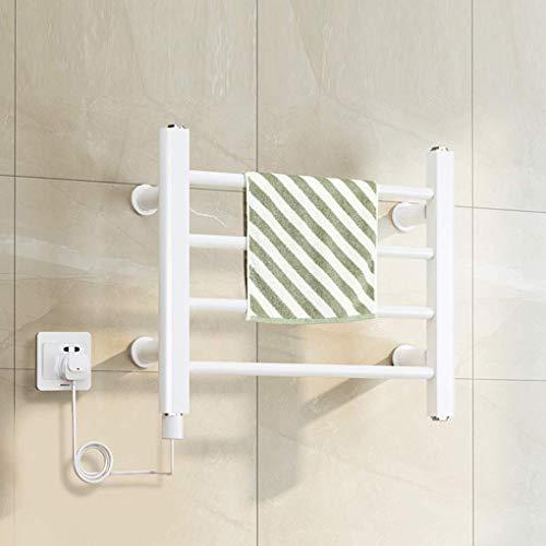 DFBGL Radiador de baño con riel de Toalla calefaccionado montado en la Pared para Calentador de Toallas eléctrico IP24 Impermeable termostático Antracita Toallas, tendedero