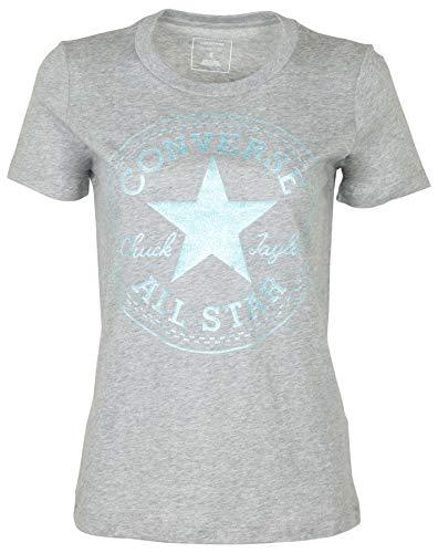 Converse Women's Glitter Chuck Taylor Core Patch T-Shirt-Heather Grey-Small