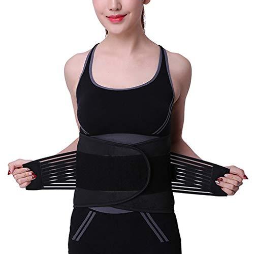 ZFF Ajustable Cinturón Lumbar Salud Y Aptitud For Hombres Mujeres Lumbar Fijo Respirable Soporte De La Cintura (Size : M/Medium)