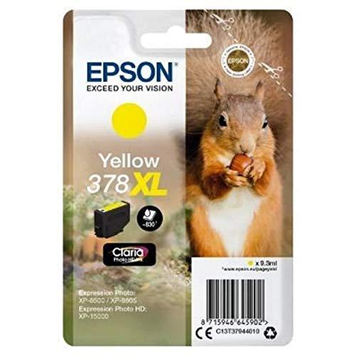 Epson Original 378XL Tinte Eichhörnchen, XP-8500 XP-8600 XP-8605 XP-15000, Amazon Dash Replenishment-fähig (gelb)