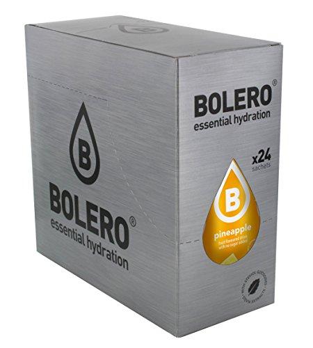 Bolero Bebida Instantánea sin Azúcar, Sabor Piña - Paquete de 24 x 9 gr - Total: 216 gr