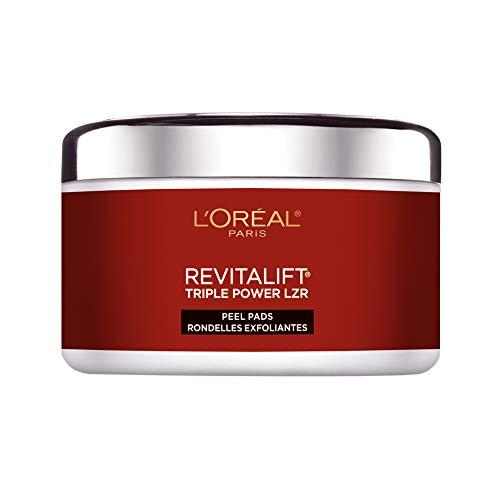 L'Oreal Paris Revitalift Bright Reveal Anti-Aging Peel Pads with Glycolic Acid Exfoliating...