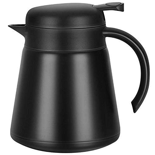 Monland 304 18/10 Steel Thermal Carafe/Double Walled Vacuum Insulated Coffee Pot with Press Button Top,24+ Hrs Heat & Cold Retention,BPA Free,for Coffee,Tea,Beverage Etc