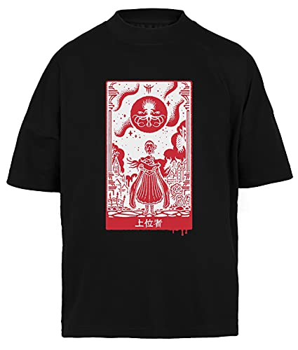 Überlegen Einsen T-Shirt Baggy Herren Damen Unisex Schwarz Men's Women's Black
