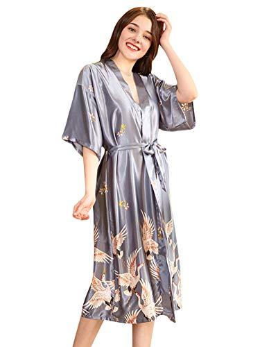 Morgenmantel//Kimono Kollektion M-Gr/ö/ße//rot Sophie Bernard CAMILLE F/ühl dich wohl