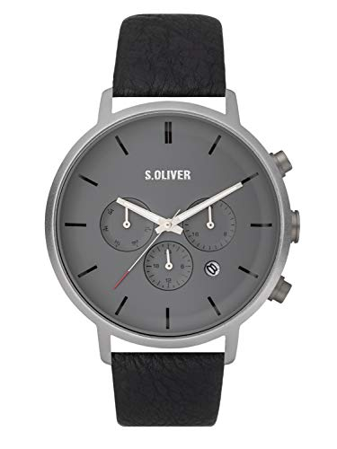 s.Oliver HerrenArmbanduhr Multi Zifferblatt Quarz Leder SO-3868-LM