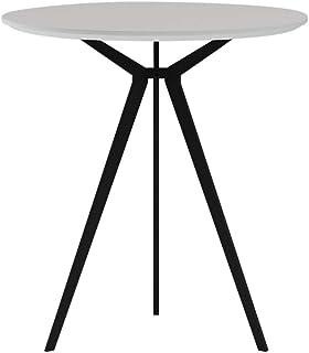 FDY Petite Table Ronde Blanc Table de Cuisine avec 3 Pieds Table à Manger pour le Salon Bureau Imperméable et Anti-rayures...