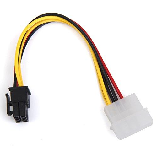 4-Pin Männlich 6-Pin PCI Express PCIE Weiblich Leistung Adapter Grafikkarten-Stromkabel Adapter Strom Kabel