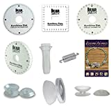 Huge Kumihimo Kit! 4 Different Foam Disks, 24 Page Project Book, Clear Handle, 24 Assorted Bobbins & Center...