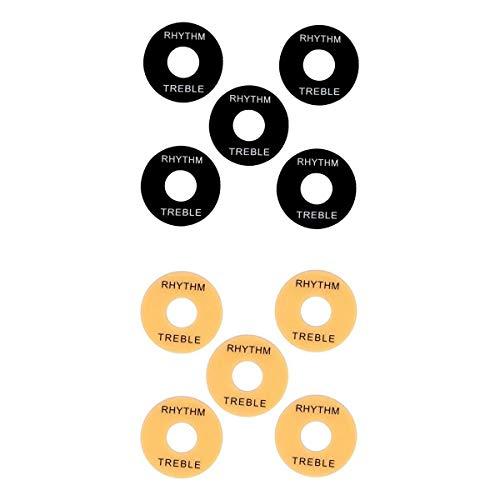 SM SunniMix 10 Piezas de Disco de Lavadora de Interruptor de 3 Vías Rythm Treble para Guitarra LP EPI