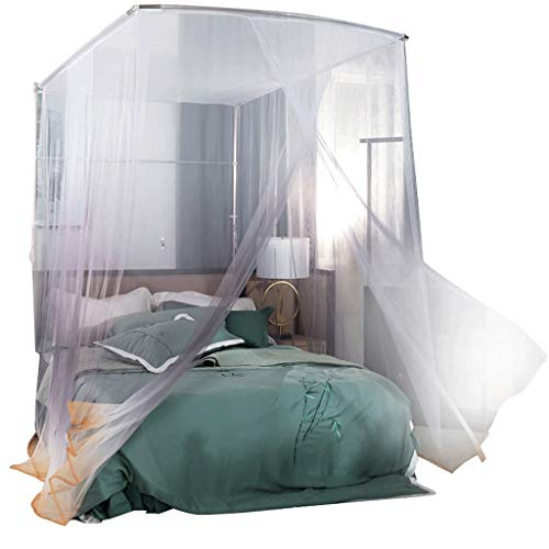 mosquitero LYL 1,5/1,8/2 / 1,8 * 2,2 m gradiente en Forma de U retráctil Soporte Doble patrón (Color : Gray, Size : Bed 1.5m)