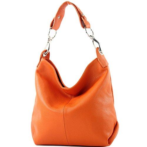 modamoda de - ital bolsa de hombro/hombro hecha de cuero T168
