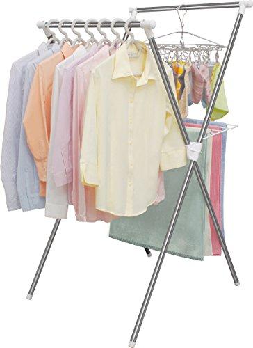 アイリスオーヤマ 洗濯物干し 簡単組み立て 室内物干し X型 ステンレス 折りたためる 幅70cm H-70X
