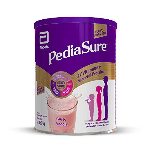 PEDIASURE: Integratore alimentare per bambini - multivitaminico con 27 vitamine e minerali e proteine | Per bambini da un anno in su | Confezione 850g | Gusto Fragola